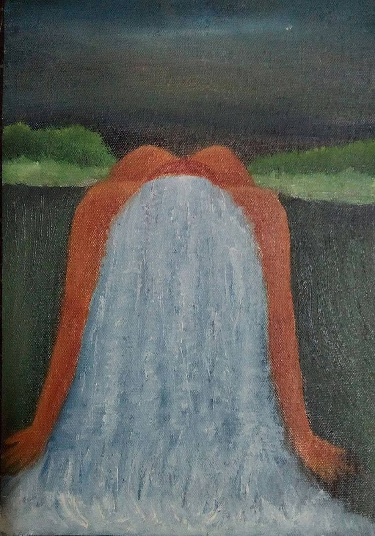 The Mysterious Nature (Oil on Canvas) – الفاظ-ے-عرفان